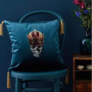 Bilde av Pute skull with red crown