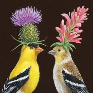 Bilde av Servietter Goldfinch couple